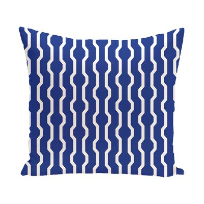 Uresti Decorative Holiday Geometric Print Throw Pillow Size: 18 H x 18 W, Color: Royal Blue