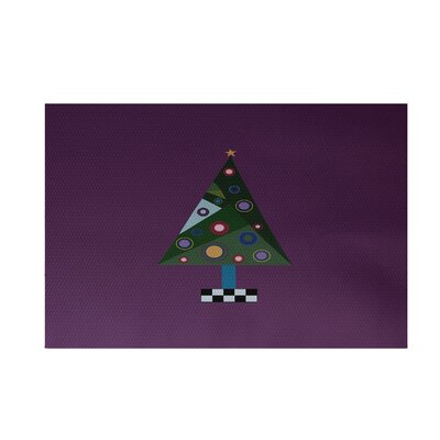 Crazy Christmas Decorative Holiday Print Purple Indoor/Outdoor Area Rug Rug Size: 3 x 5