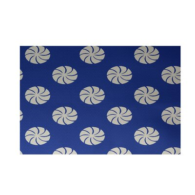 Royal Blue Indoor/Outdoor Area Rug Rug Size: Rectangle 2 x 3