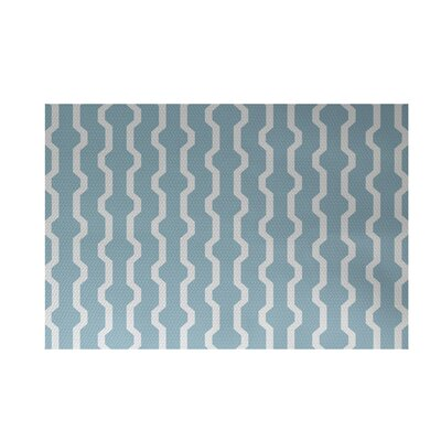 Uresti Decorative Holiday Geometric Print Light Blue Indoor/Outdoor Area Rug Rug Size: Rectangle 3 x 5