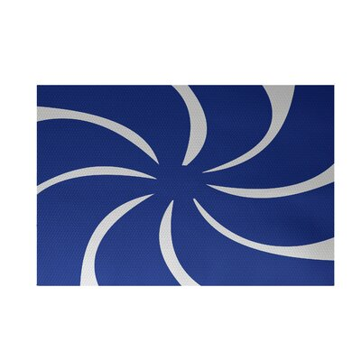Decorative Holiday Abstract Print Royal Blue Indoor/Outdoor Area Rug Rug Size: 2 x 3