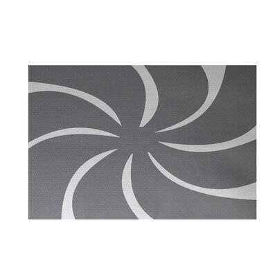 Decorative Holiday Geometric Print Gray Indoor/Outdoor Area Rug Rug Size: 2 x 3