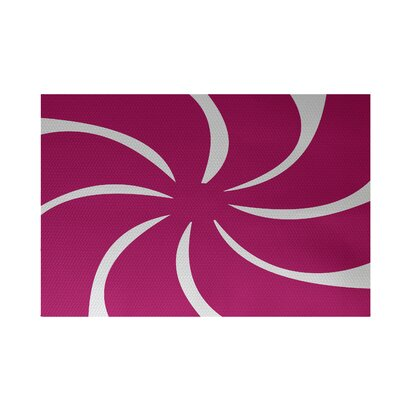 Decorative Holiday Geometric Print Pink Indoor/Outdoor Area Rug Rug Size: Rectangle 2 x 3