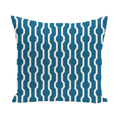 Uresti Decorative Holiday Geometric Print Throw Pillow Size: 18 H x 18 W, Color: Turquoise