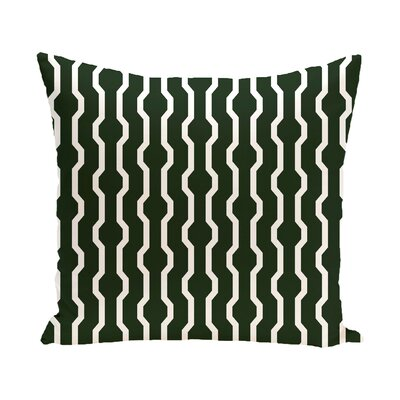 Uresti Decorative Holiday Geometric Print Throw Pillow Size: 18 H x 18 W, Color: Dark Green