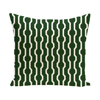 Uresti Decorative Holiday Geometric Print Throw Pillow Color: Green, Size: 18 H x 18 W