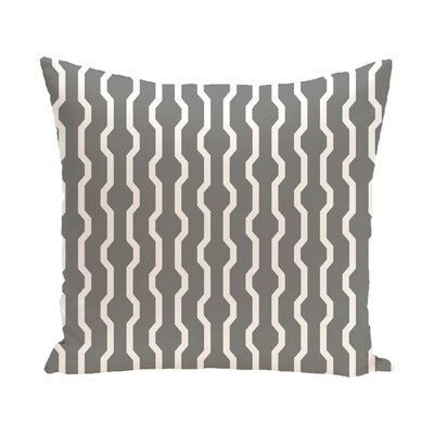 Uresti Decorative Holiday Geometric Print Throw Pillow Size: 18 H x 18 W, Color: Gray