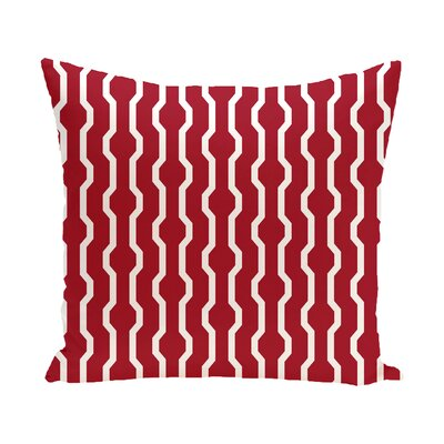 Uresti Decorative Holiday Geometric Print Throw Pillow Size: 18 H x 18 W, Color: Red