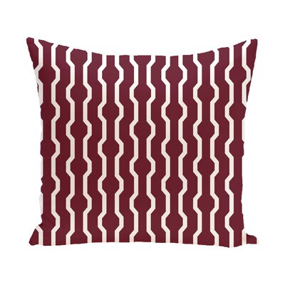 Uresti Decorative Holiday Geometric Print Throw Pillow Size: 18 H x 18 W, Color: Cranberry/Burgundy