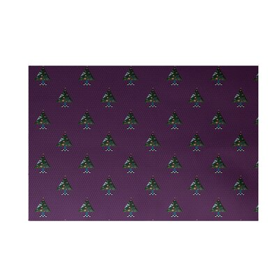 Crazy Christmas Decorative Holiday Print Purple Indoor/Outdoor Area Rug Rug Size: Rectangle 2' x 3'