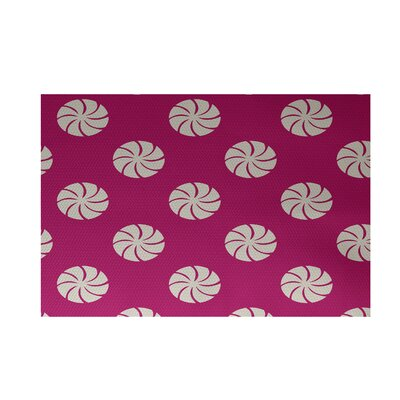 Decorative Holiday Geometric Print Pink Indoor/Outdoor Area Rug Rug Size: 2 x 3
