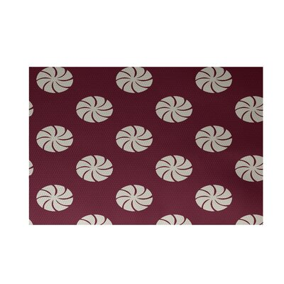 Decorative Holiday Geometric Print Cranberry Burgundy Indoor/Outdoor Area Rug Rug Size: Rectangle 2 x 3