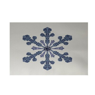 Vail Decorative Holiday Print Ivory Cream Indoor/Outdoor Area Rug Rug Size: Rectangle 2 x 3
