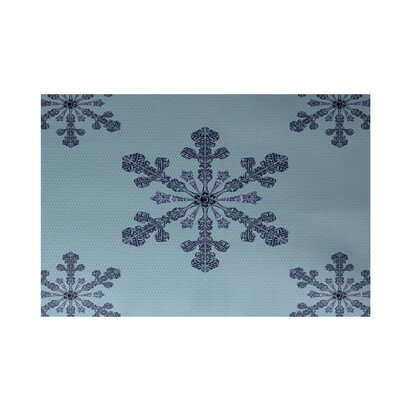 Vail Decorative Holiday Print Light Blue Indoor/Outdoor Area Rug Rug Size: Rectangle 2 x 3