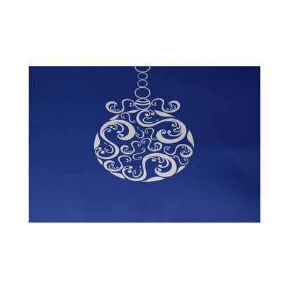 Decorative Holiday Print Royal Blue Indoor/Outdoor Area Rug Rug Size: 2 x 3