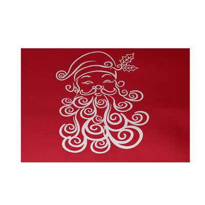 Santa Baby Decorative Holiday Print Red Indoor/Outdoor Area Rug Rug Size: Rectangle 3 x 5