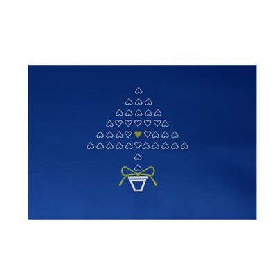 Hearty Holidays Decorative Holiday Print Royal Blue Indoor/Outdoor Area Rug Rug Size: 4 x 6