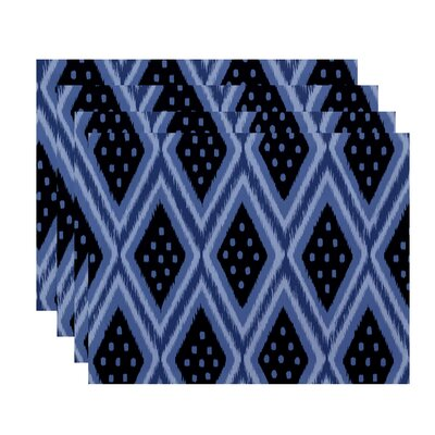 Sabrina Geometric Placemat Color: Blue / Navy Blue