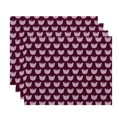 Antiope Floral Placemat Color: Purple / Pink