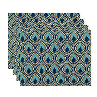 Shivani Geometric Placemat Color: Green / Teal