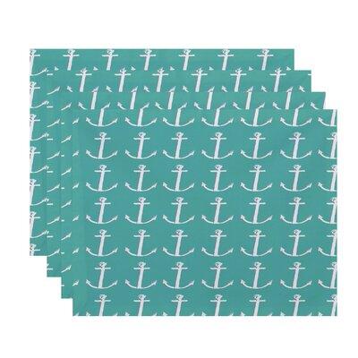 Sandybrook Away Coastal Placemat Color: Aqua / Gray
