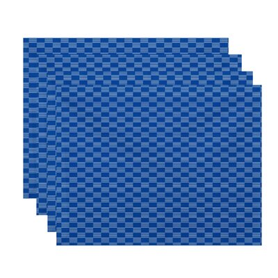 Upper Swainswick Read Between The Lines Geometric Placemat Color: Azure