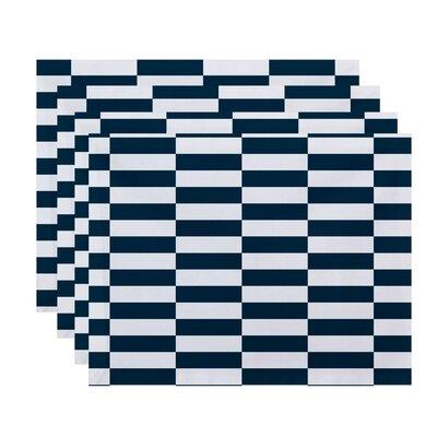 Buffington Stripes Placemat Color: Teal