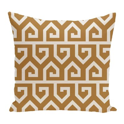 Keyed Up Geometric Print Throw Pillow Size: 16