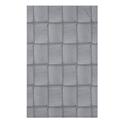 "Basketweave Geometric Print Throw Blanket Size: 50"" H x 60"" W x 0.5"" D, Color: Gray"