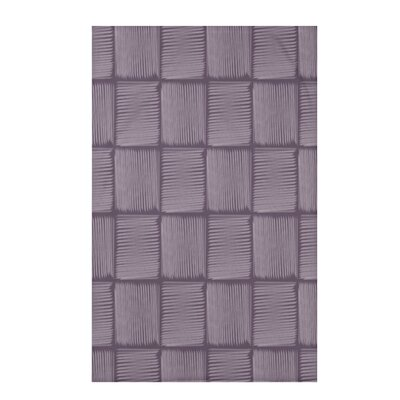 "Basketweave Geometric Print Throw Blanket Size: 50"" H x 60"" W x 0.5"" D, Color: Purple"