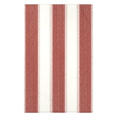 "Striate Stripe Stripe Print Throw Blanket Size: 50"" H x 60"" W x 0.5"" D, Color: Orange"