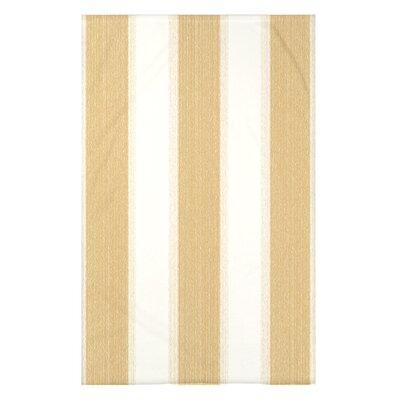 "Striate Stripe Stripe Print Throw Blanket Size: 50"" H x 60"" W x 0.5"" D, Color: Yellow"