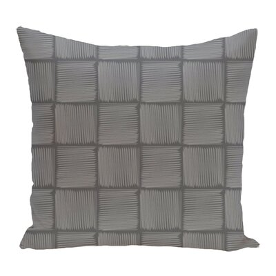 Lakeside Geometric Print Throw Pillow Size: 18 H x 18 W, Color: Gray