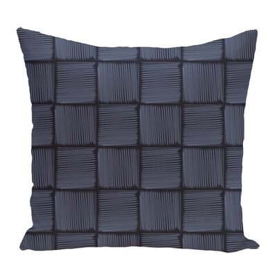 Lakeside Geometric Print Throw Pillow Size: 16 H x 16 W, Color: Blue