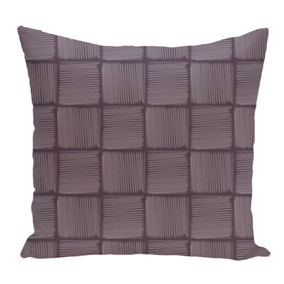 Lakeside Geometric Print Throw Pillow Size: 18 H x 18 W, Color: Purple