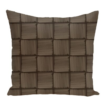 Lakeside Geometric Print Throw Pillow Size: 16 H x 16 W, Color: Brown