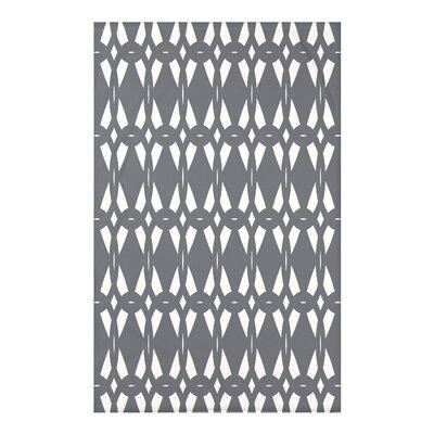 "Geo-Craze Geometric Print Throw Blanket Size: 50"" H x 60"" W x 0.5"" D, Color: Gray"