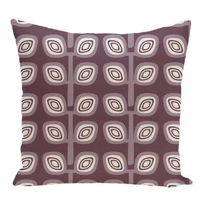 Cavendish Geometric Print Throw Pillow Size: 18 H x 18 W, Color: Purple