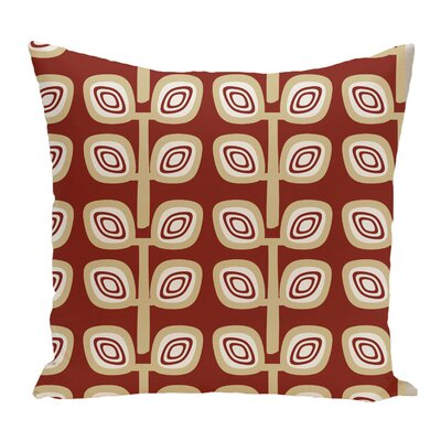 Cavendish Geometric Print Throw Pillow Size: 18 H x 18 W, Color: Orange