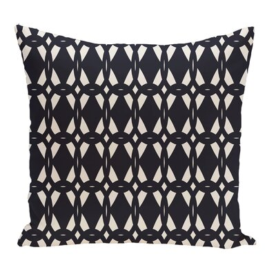 Freja Geometric Print Throw Pillow Color: Navy Blue, Size: 18 H x 18 W