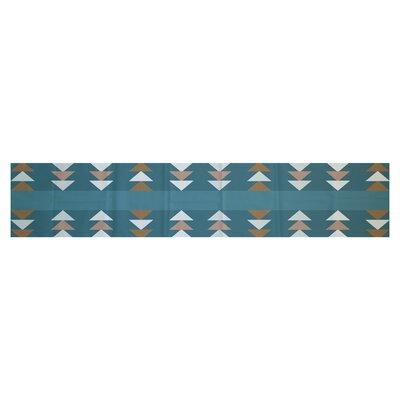 Sagebrush Geometric Print Aqua Indoor/Outdoor Area Rug Rug Size: 5' x 7'
