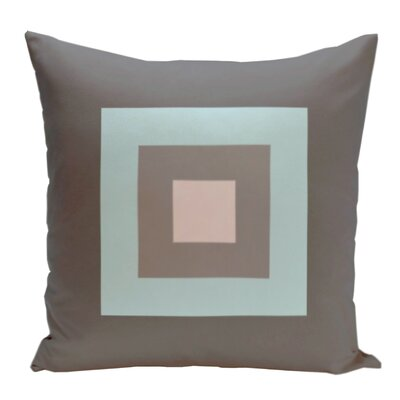 Geometric Decorative Down Throw Pillow Size: 18 H x 18 W, Color: Steel/Cream