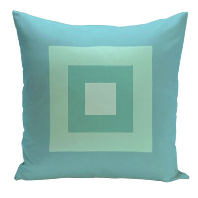 Geometric Decorative Down Throw Pillow Size: 16 H x 16 W, Color: Bahama/Ocean