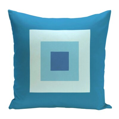 Geometric Decorative Down Throw Pillow Size: 18 H x 18 W, Color: Peacock