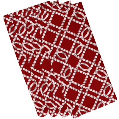 Nautical Nights Know the Ropes Geometric Napkin Size: 19