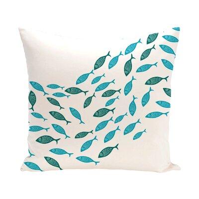Beach Vacation Escuela Animal Outdoor Euro Pillow Color: Turquoise