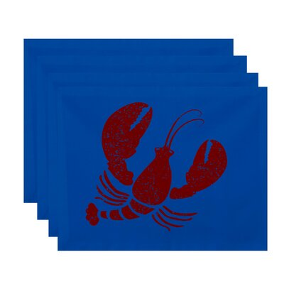 Hancock Lobster Coastal Placemat Color: Blue
