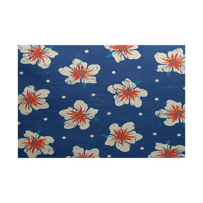 Pembrook Blue Indoor/Outdoor Area Rug Rug Size: 4 x 6