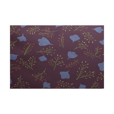 Orchard Lane Purple Indoor/Outdoor Area Rug Rug Size: 4 x 6
