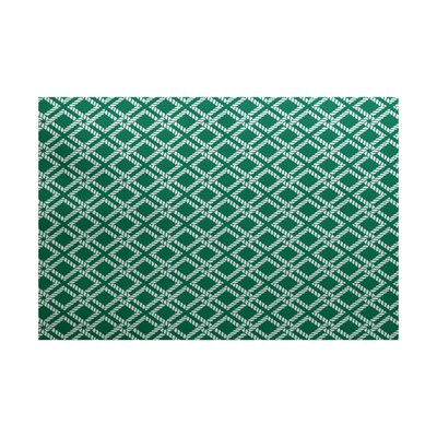 Hancock Green Indoor/Outdoor Area Rug Rug Size: 5 x 7